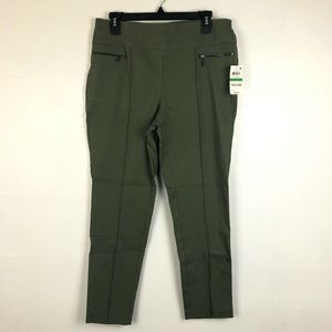 Style & Co Pull-On Skinny Pants Olive petite Large